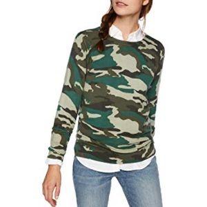 J Crew Factory camo crewneck sweater M